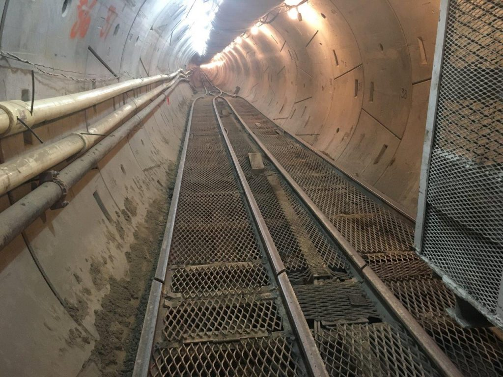 The tunnel is over 10.000 feet long.